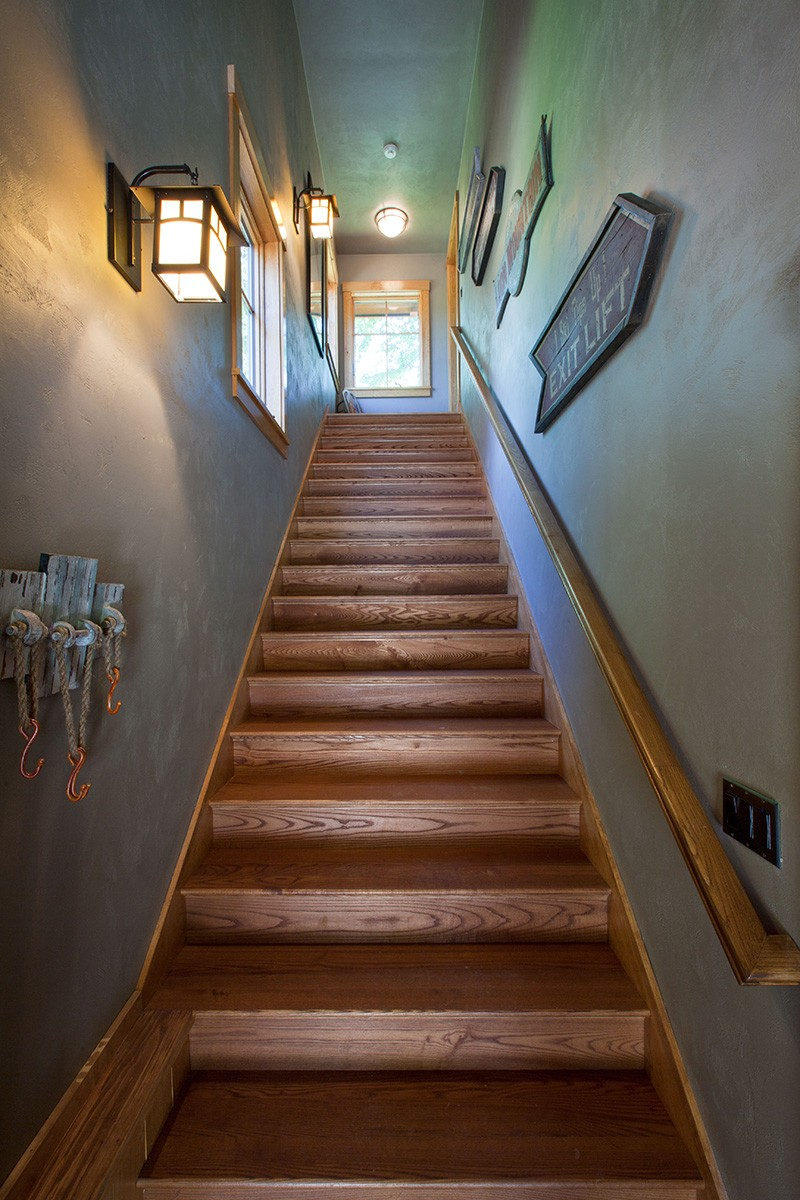 Stairs to garage living space